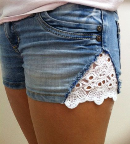Cute fix for shorts that are too tight around the legs