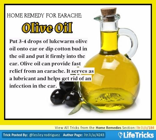 Home Remedies - Home Remedy For Earache: Olive Oil