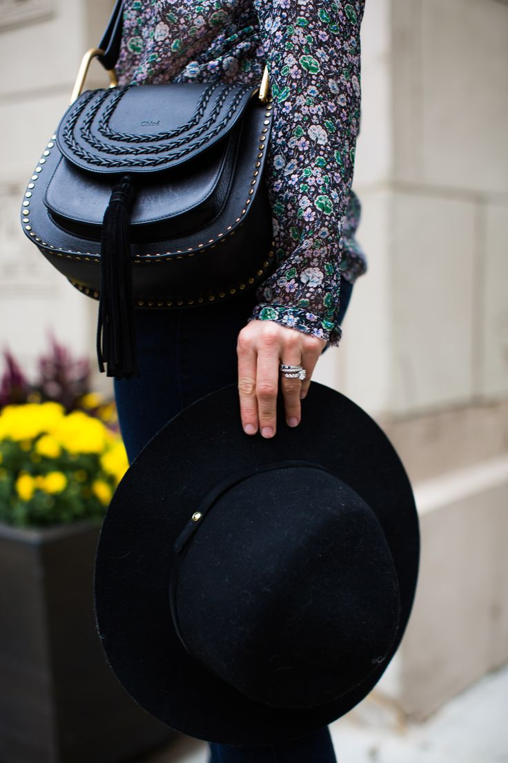 the best fall accessories: chloe hudson bag and rag and bone hat #fallhat
