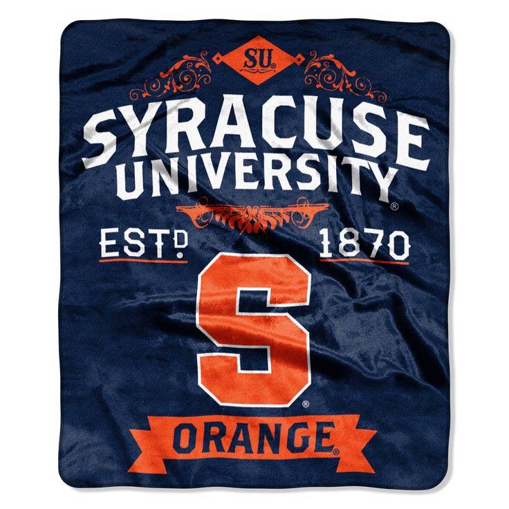 "Syracuse College """"Retro"""" 50x60 Raschel Throw"