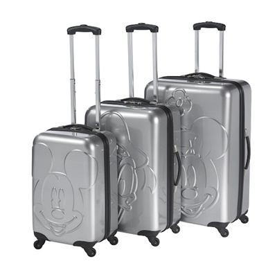 vente-privee - Heys Luggage : Girl's Disney : Embossed Faces 3 Piece Set|silverEmbossing Face, Disney Mickey, Spinner Sets, Disney Embossing, Luggage Sets, Things Disney, Hey Usa, Hard Side Spinner, Disney Luggage