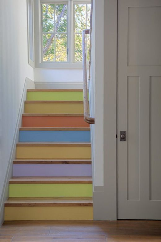 colourful staircase design