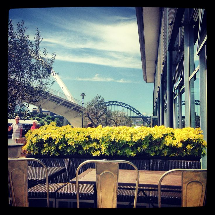 View from Pitcher and Piano beer garden, Newcastle. Tyne bridge.