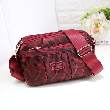 Women Light Camouflage Printing Shoulder Bags Casual Shoulder Bags Mini Messenge - US$16.35