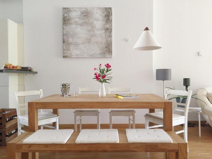 Superior Einfache Dekoration Und Mobel Sommerliche Textilien #2: Eine Kleine, Aber Feine Sommerliche Dekoration Für Den Esstisch. #sommer  #sommerdeko #