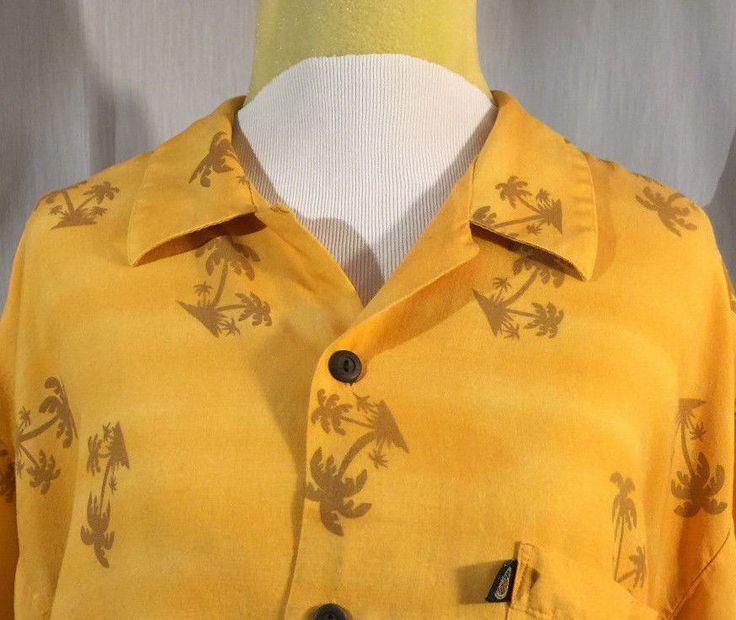 Pineapple Connection Men's Hawaiian Aloha Shirt Palm Trees Cars Short Sleeve XL #PineappleConnection #Hawaiian