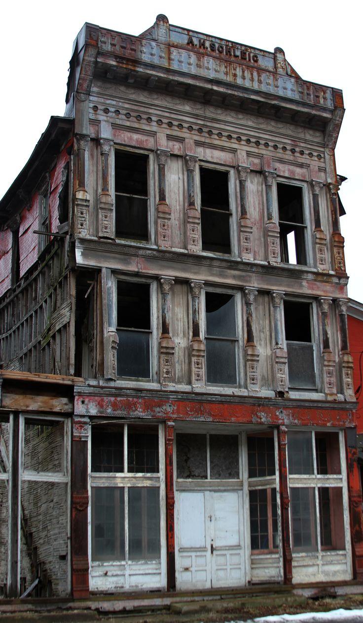 Abandonado en la vieja ciudad minera de Coal Township.