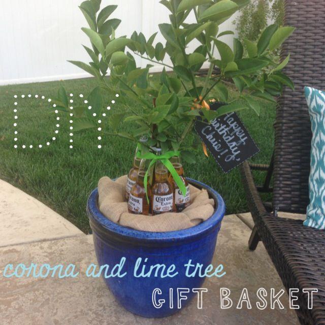 Diy Corona Lime Tree Gift Basket Perfect Gift Idea For