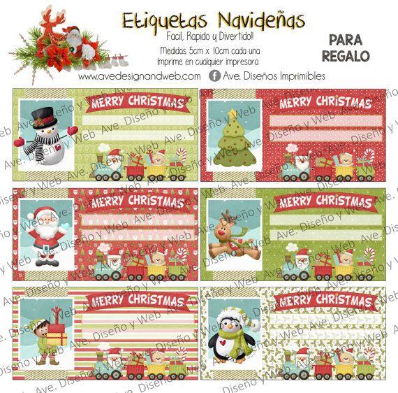 Etiquetas de Navidad Etiquetas para regalos de por AVeDesignandWeb