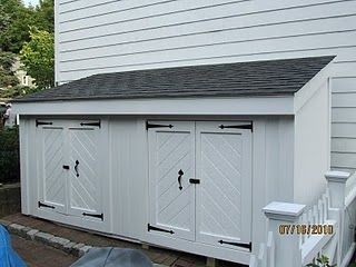 How To Build A Shed - A Concord Carpenter   A Concord Carpenter   This would be good for the cats in the winter. Install a cat door on each end. The larger doors would be great to get in to clean.