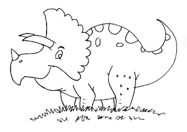 d is for dinosaur coloring pages - photo #39