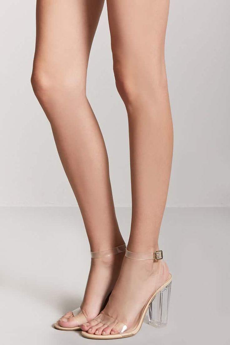 Lucite Wraparound Heels // 29.90 USD // Forever 21