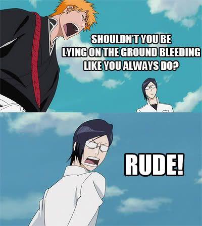 Yeah, Ishida .. go play dead .. again ! (Bleach)