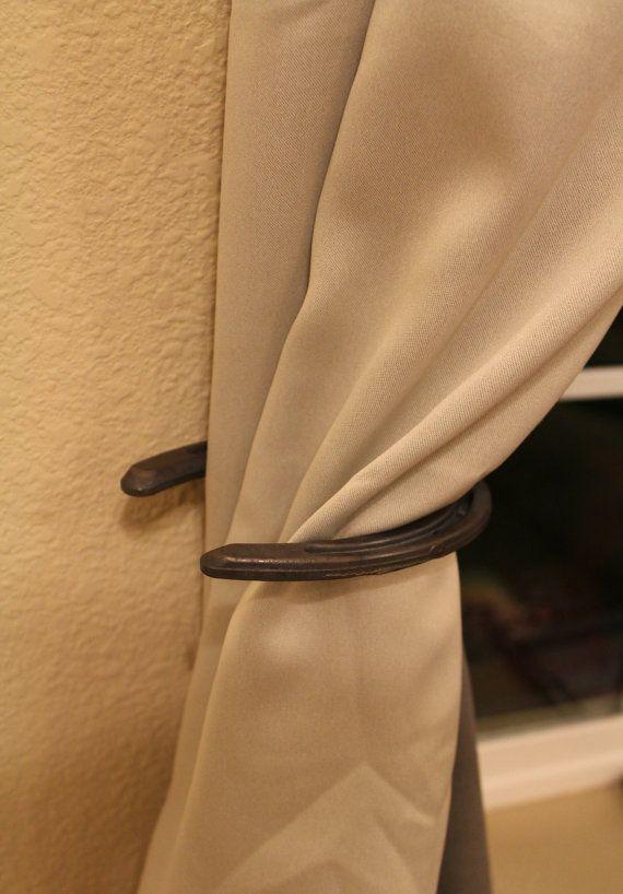horseshoe curtain holder set by Pottermade on Etsy