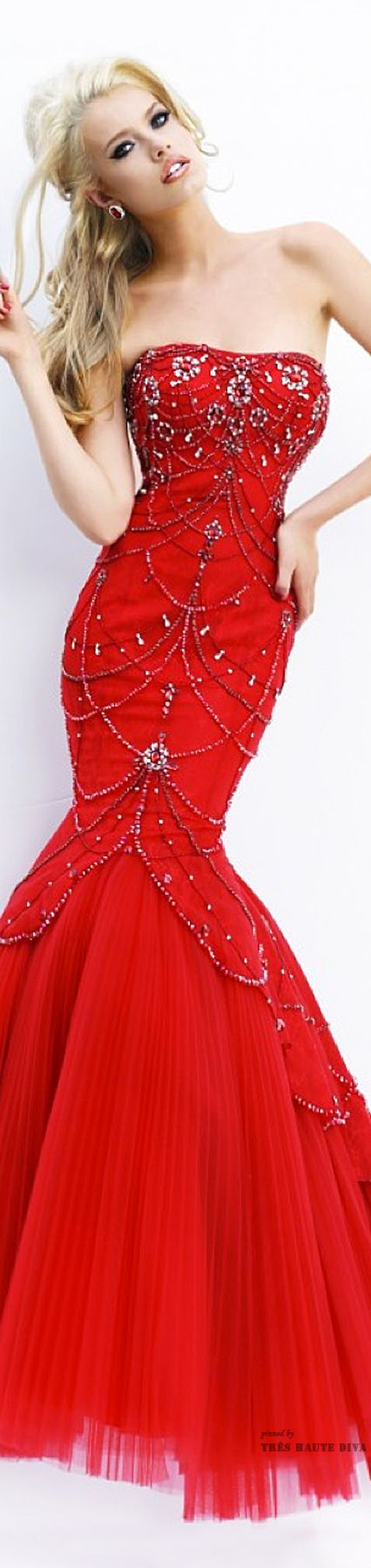 Class never goes out of style. - Sherri Hill Spring 2015 Red Dress...