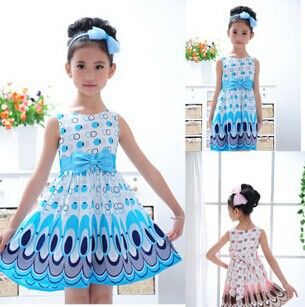 Find More Dresses Information about Free shipping Kids Girls Dress cute peacock color sleeveless princess dress circle Korean Fashion children's New clothes,High Quality dress sleep,China dress mario Suppliers, Cheap dress up halloween costumes from ColorArt Co. LTD on Aliexpress.com