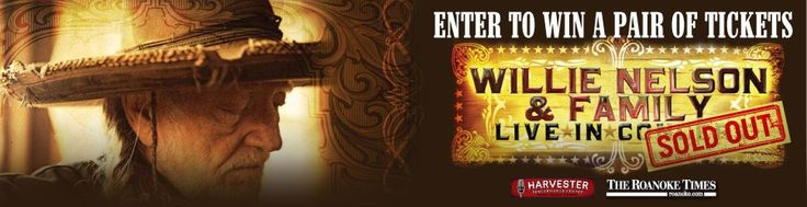 Enter to win a pair of Gold Section Tickets to see the Sold Out Willie Nelson at the Harvester Performance Center!