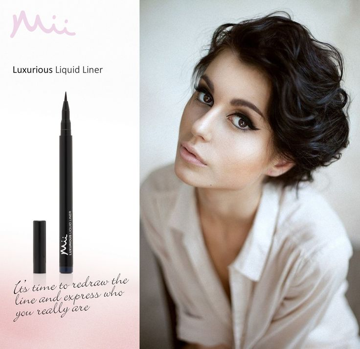It's time to redraw the line and express who you really are with Mii. Available in 3 luxurious, long lasting shades.