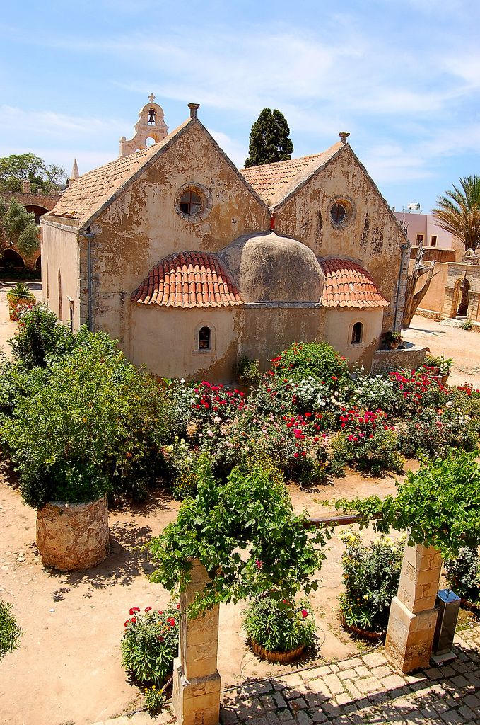 Monastery of Arkadi (founded in de 13th century) on the Greek island of Crete