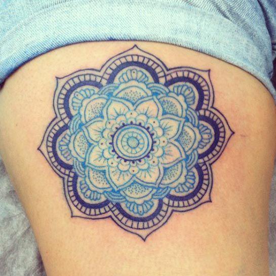 Blue mandala flower by Alex Salazar