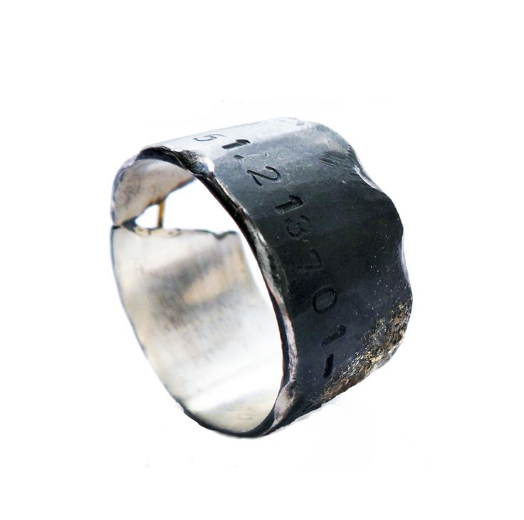 Love story ring 18ct gold, silver