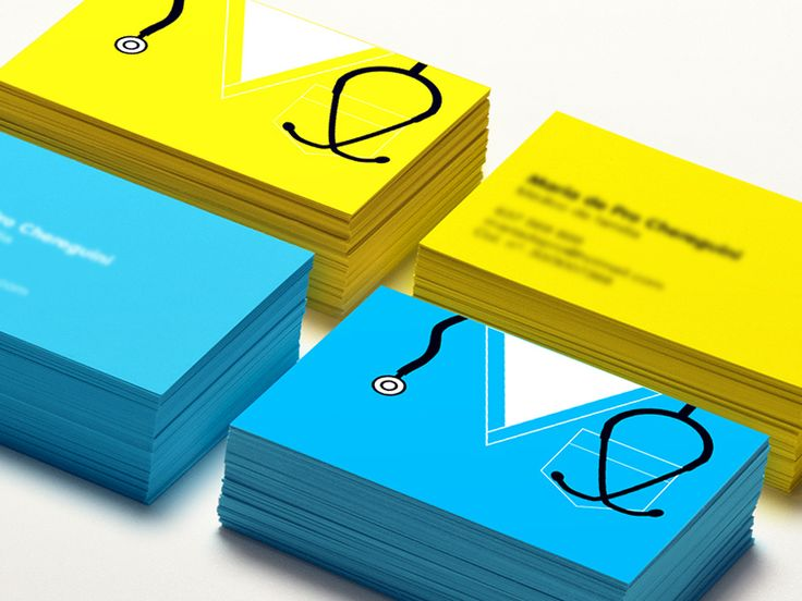 Dribbble - Visit cards for woman doctor by Mutant