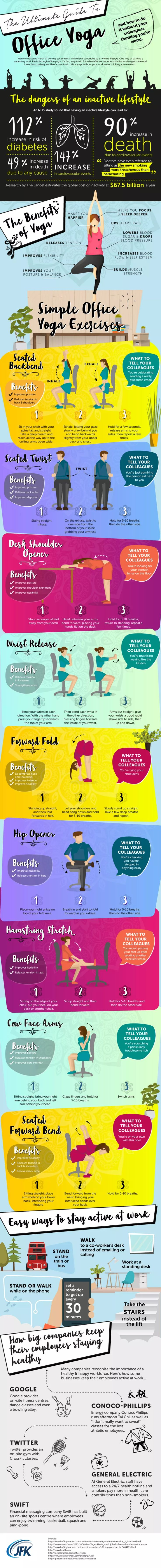 The Ultimate Guide To Office Yoga #Infographic