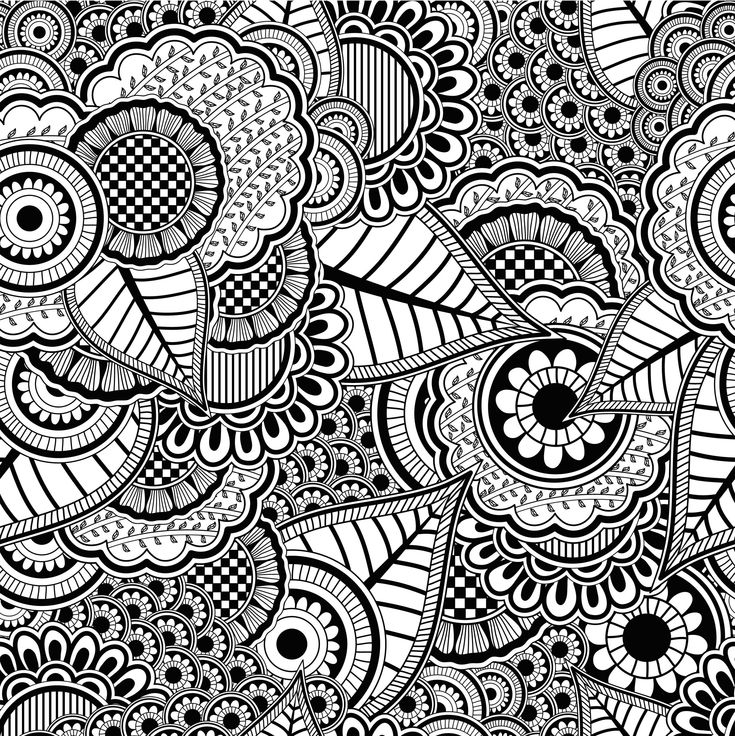 Des coloriages anti-stress en printable gratuit