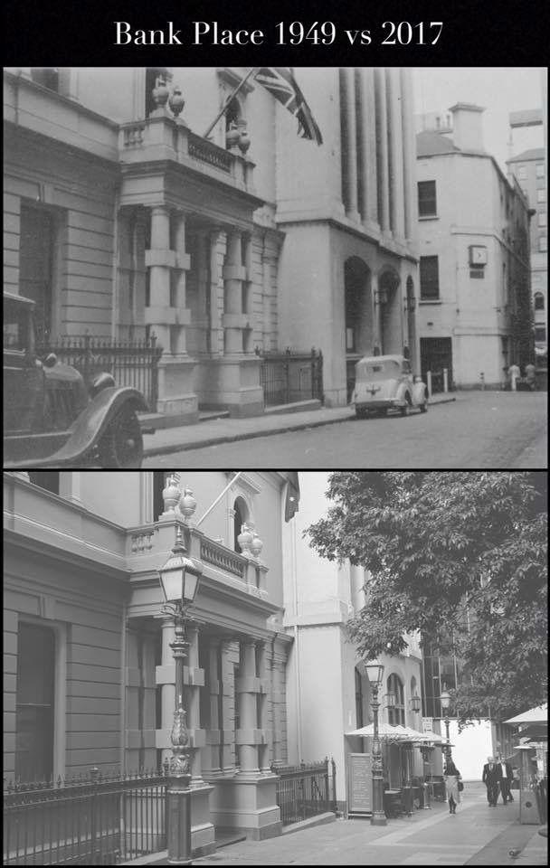 Bank Place, Melbourne 1949 vs 2017