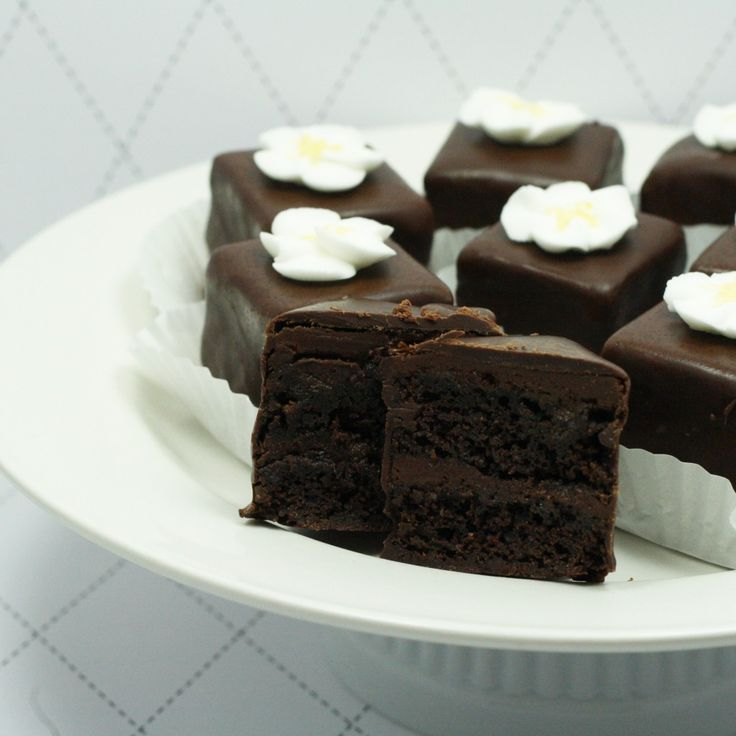 Chocolate petit fours - oh so good!