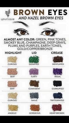 colori adatti per occhi marroni