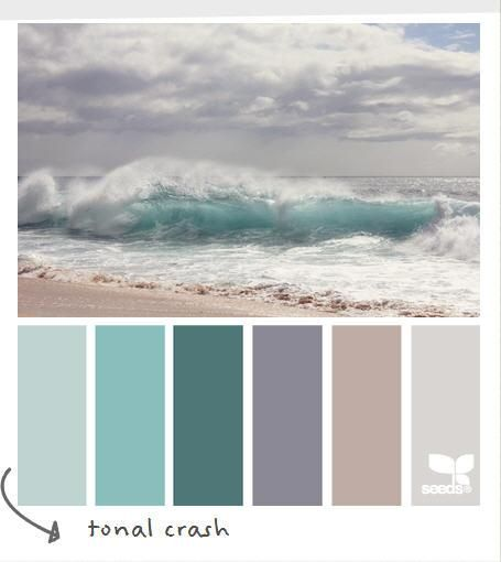 Wordless Wednesday - Coastal Decor Color Palette....if I could ever redo the main floor, I would paint in these color tones.