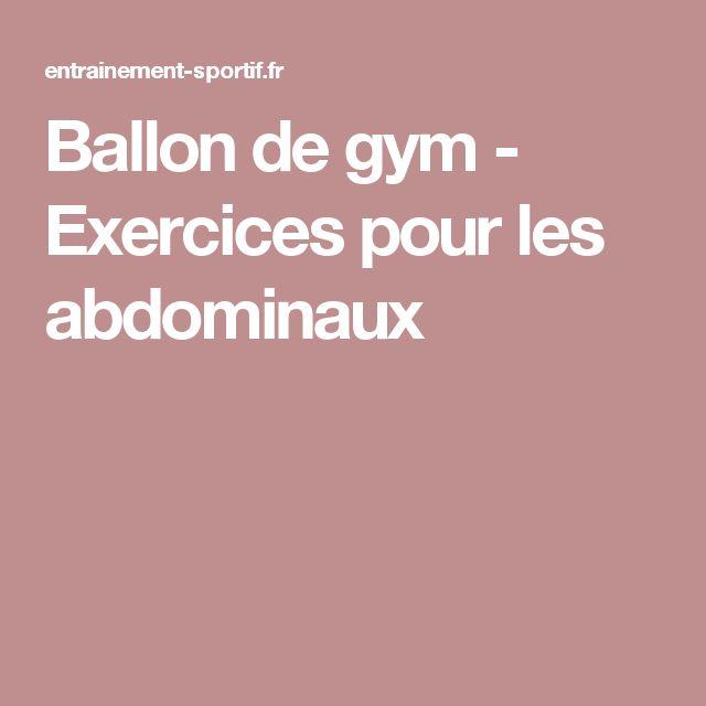 Ballon de gym - Exercices pour les abdominaux