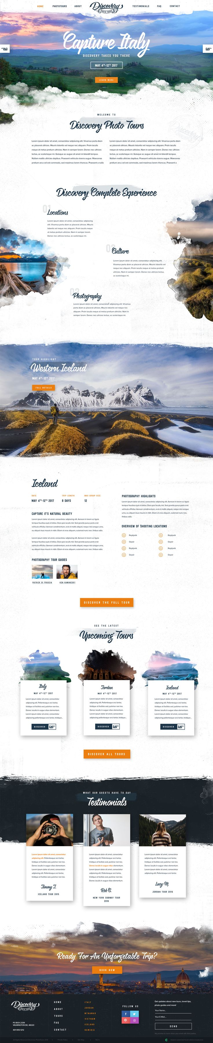 Top 25 best Travel website design ideas on Pinterest Site