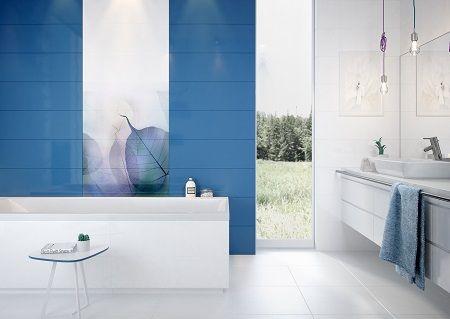 A nagyméretű levél dekor egyedi megjelenést kölcsönöz fürdőszobádnak.