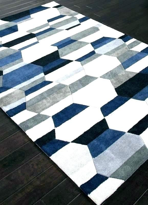 Home Depot Area Rugs 5x8 Blue Gray Area Rug Navy And White Rug Blue Bath Rug