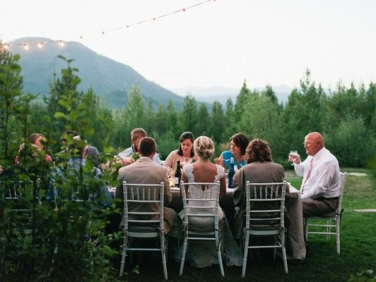 Glacier Park Weddings at Great Northern Resort - This wedding reception dinner setting is special in every way. Photography: Orange Photographie