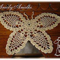 Motyl na szydełku - wzór, schemat