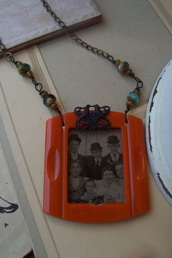 Tintype jewelry Necklace  The Men of The Family in by sweetlaraine, $55.00