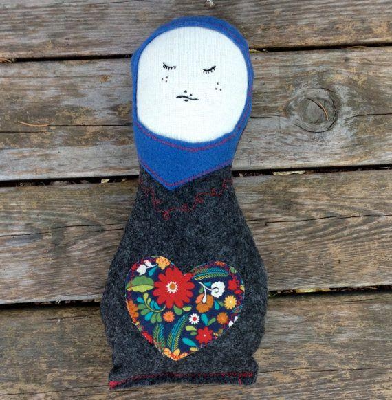 Minne Love Felt Matroyska Doll by mplsmomma on Etsy #etsy #matroyshka #doll #toy #stuffedoll #handmade #russiandoll