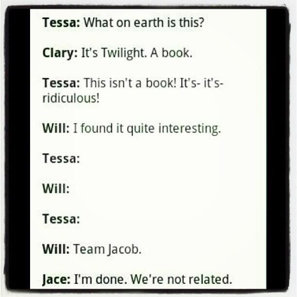 "Jace... :D ""I'm done. We're not related."""