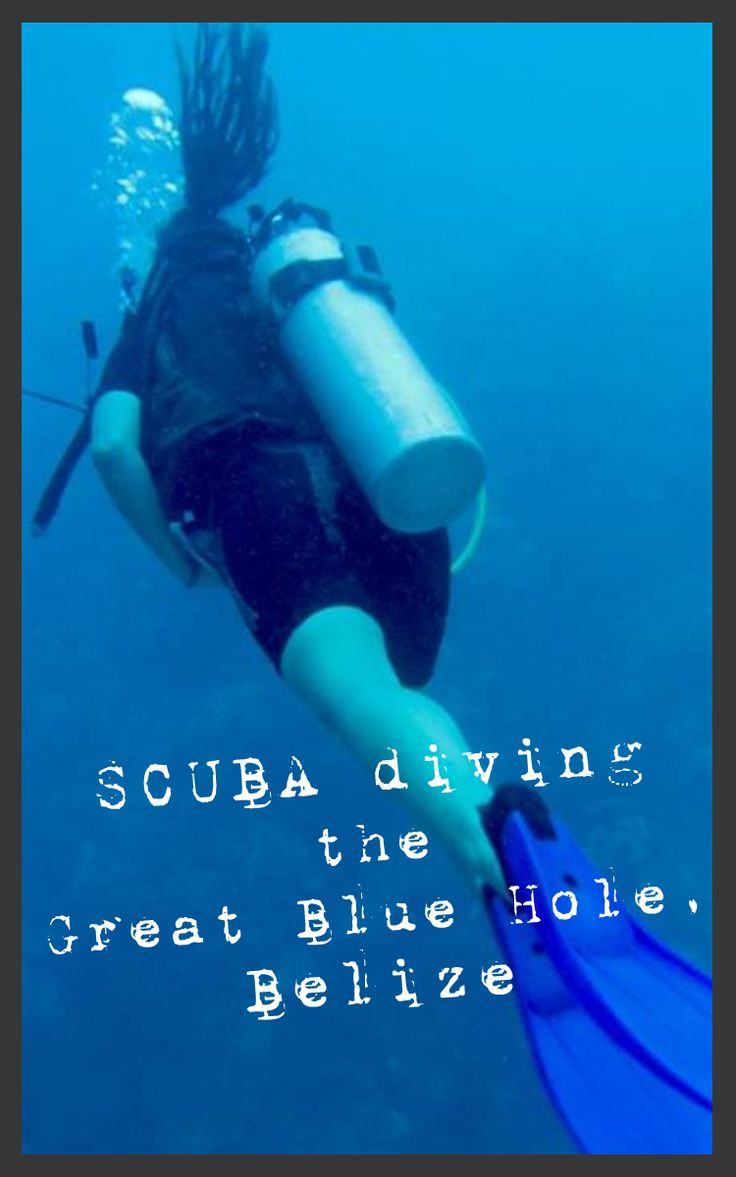 SCUBA diving the Great Blue Hole in Belize. #ScubaDiving #Travel #Adventure