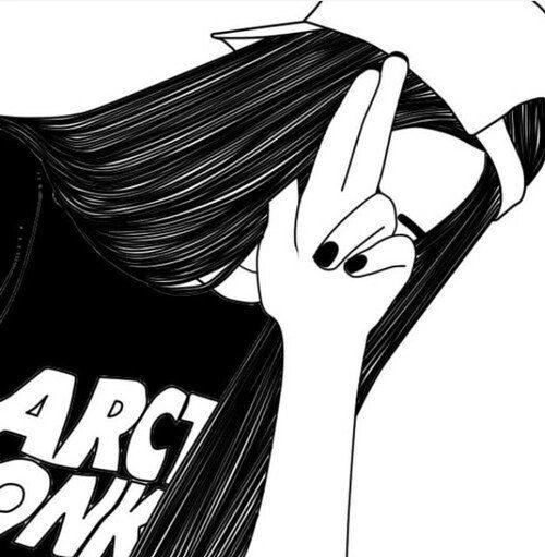Картинки для лд черно белые для распечатки девушка