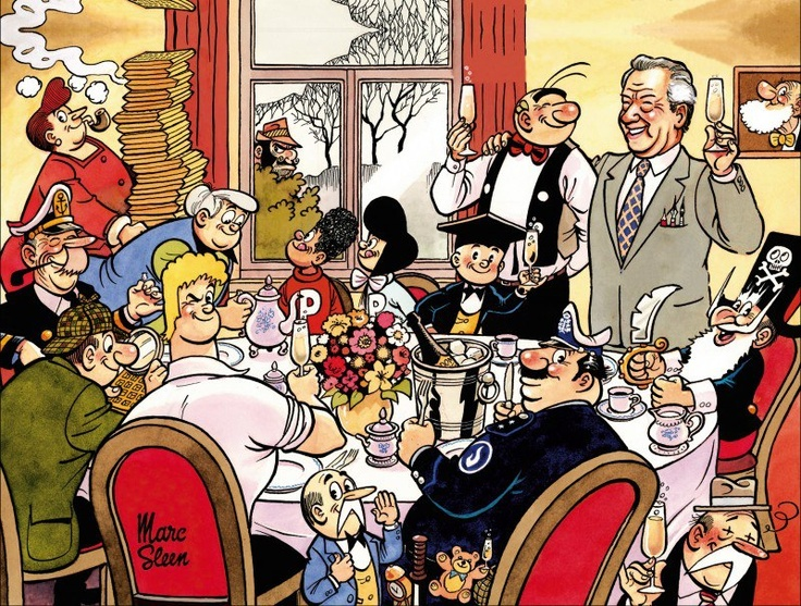 Do you know the Nero, the Belgian comic of Marc Sleen? At the end of each story they end up together around the table eating Belgian waffles. #Belgium #Comics