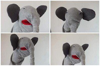 mr. elephant bábok angolozáshoz