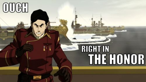 """One of my new favorite phrases. The second we hear Iroh actually say """"honor""""...."""