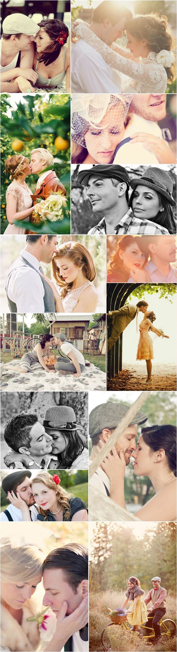 46 Beautiful Vintage-Inspired Engagement Photos - Romantic