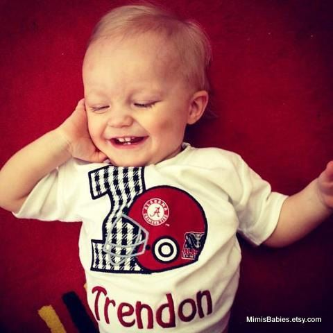 How cute... I love T.J. Alabama Football Birthday Shirt Boys by mimisbabies on Etsy
