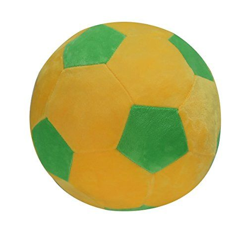 Cltoyvers 12 Cute Soccer Ball Plush Soft Stuffed Football Sports Toy  Yellow and Green * To view further for this item, visit the image link.Note:It is affiliate link to Amazon.