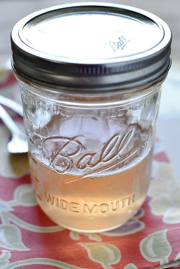 """Made this today. Excited to put it in lemonade. """"Homemade Sweet Peach Simple Syrup"""" (purée is better than the simple syrup in lemonade)"""